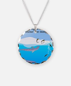 Leopard Seal Penguins and Ice Necklace
