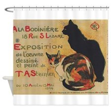 Two Cats, Vintage Poster, Steinlen Shower Curtain