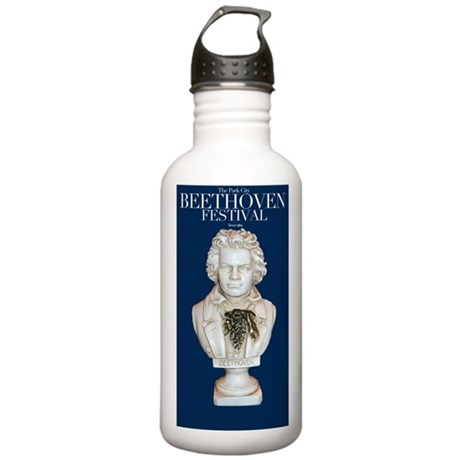 BeethovenSocietyBlueTALL2 Water Bottle