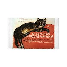 Cat, Steinlen, Vintage Poster 3'x5' Area Rug