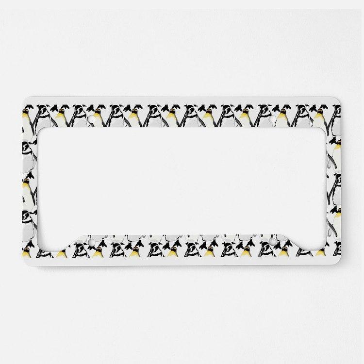 Penguin Pattern 1 License Plate Holder