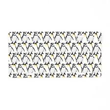Penguin Pattern 1 Aluminum License Plate