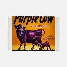 Purple cow apples Vintage sign Rectangle Magnet