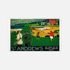 St. Andrews, Golf, Vintage Poster 3'x5' Area Rug