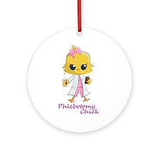 Phlebotomy Chick Ornament (Round)