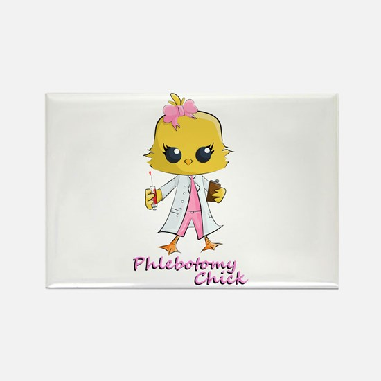 Phlebotomy Chick Rectangle Magnet
