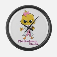 Cute Phlebotomist Large Wall Clock