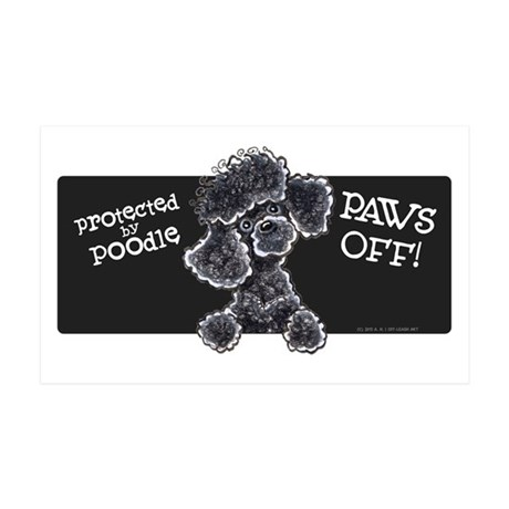 Black Poodle PAWS OFF Wall Decal