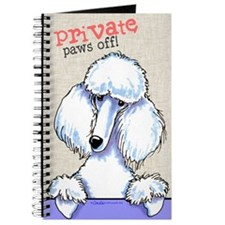 White Poodle Private PAWS OFF Journal