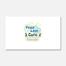 Teal Peace Love Cure Car Magnet 20 x 12