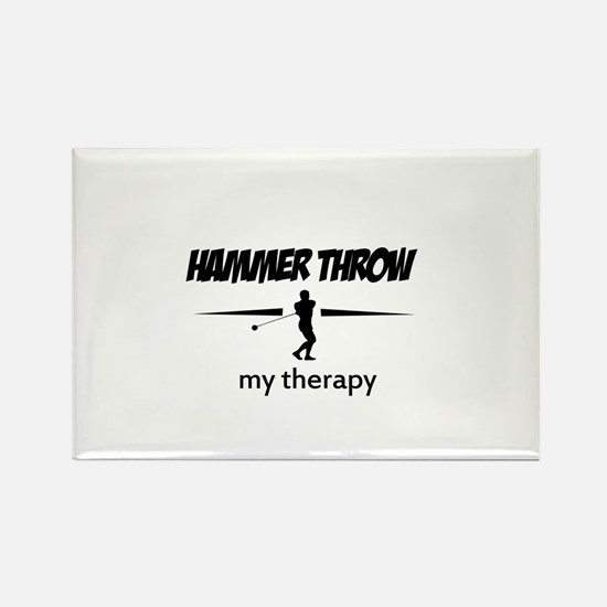 Hammer Throw my therapy Rectangle Magnet