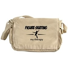 Figure Skating my therapy Messenger Bag