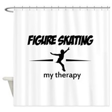 Figure Skating my therapy Shower Curtain