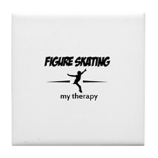 Figure Skating my therapy Tile Coaster
