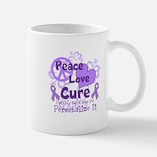 Purple Peace Love Cure Mug