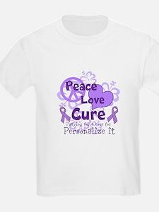 Purple Peace Love Cure T-Shirt