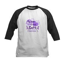 Purple Peace Love Cure Baseball Jersey