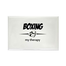 Boxing my therapy Rectangle Magnet