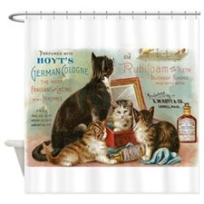 Cats, Vintage Poster Shower Curtain