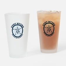 Fort Myers - Sand Dollar Design. Drinking Glass