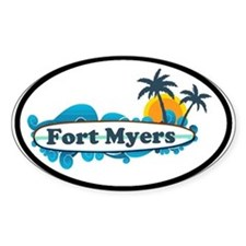 Fort Myers - Surf Design. Decal