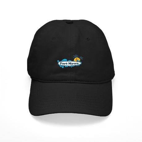 Fort Myers - Surf Design. Black Cap
