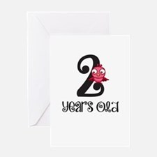 2 Years Old Baby Bird Greeting Card