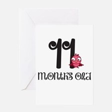 11 Months Old Baby Bird Greeting Card