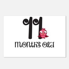 11 Months Old Baby Bird Postcards (Package of 8)