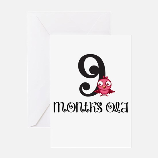 9 Months Old Baby Bird Greeting Card