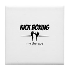 Kick Boxing my therapy Tile Coaster