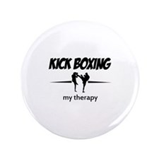 """Kick Boxing my therapy 3.5"""" Button"""