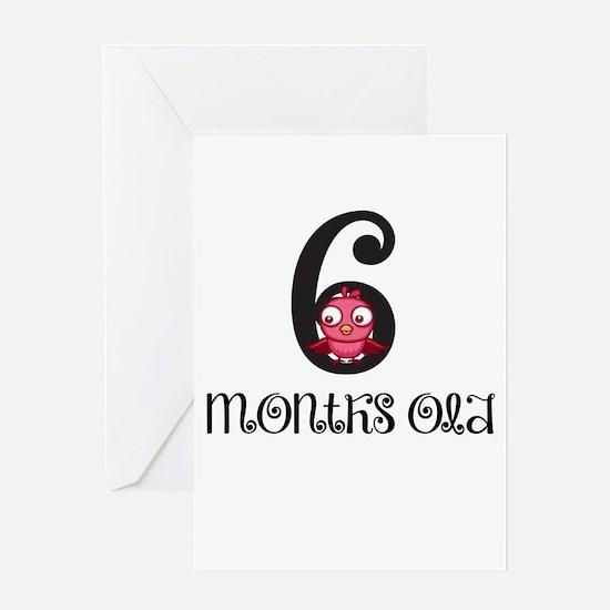 6 Months Old Birdie Baby Milestone Greeting Card