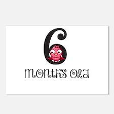 6 Months Old Birdie Baby Milestone Postcards (Pack