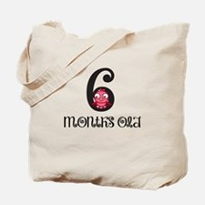 6 Months Old Birdie Baby Milestone Tote Bag