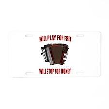ACCORDION FUN Aluminum License Plate