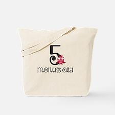 5 Months Old Birdie Baby Milestone Tote Bag