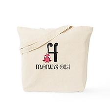 4 Months Old Birdie Baby Milestone Tote Bag