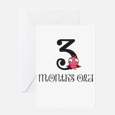 3 Months Old Birdie Baby Milestone Greeting Card