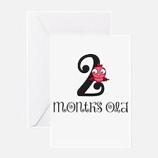 2 Months Old Birdie Baby Milestone Greeting Card