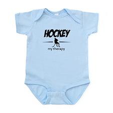 Hockey my therapy Infant Bodysuit