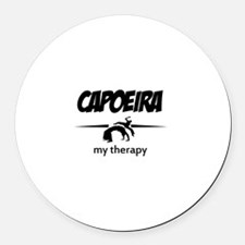 Capoeira my therapy Round Car Magnet