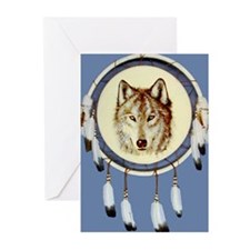 Wolf Shield Greeting Cards (Pk of 10)