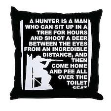 Hunting Hunter Funny T-Shirt Throw Pillow