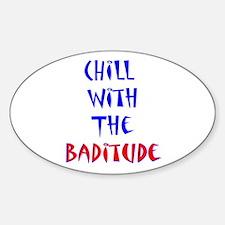 Baditude Oval Decal