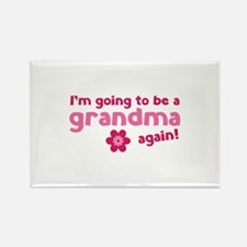 I'm going to be a grandma again Rectangle Magnet (