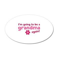 I'm going to be a grandma again 22x14 Oval Wall Pe
