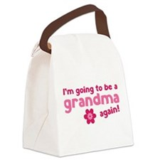 I'm going to be a grandma again Canvas Lunch Bag