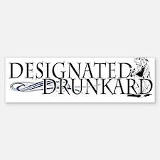 Designated Drunkard Bumper Bumper Bumper Sticker