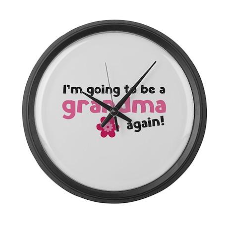 I'm going to be a grandma again Large Wall Clock